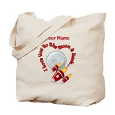 I love you to the moon back - Personalized Tote Ba