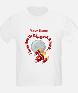 I love you to the moon back - Personalized T-Shirt
