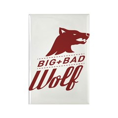 Big Bad Wolf Rectangle Magnet (100 pack)