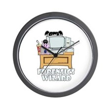 Abby Forensics Wizard Wall Clock