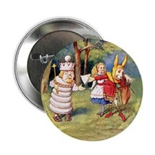 "White King and March Hare 2.25"" Button (10 pack)"