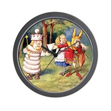 White King and March Hare Wall Clock