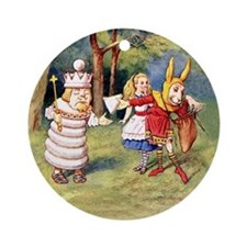 White King and March Hare Ornament (Round)
