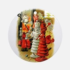 White King and Red Queen Ornament (Round)