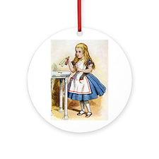 Alice - Drink Me! Ornament (Round)