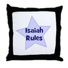 Isaiah Rules Throw Pillow