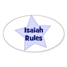 Isaiah Rules Oval Decal