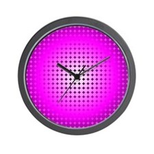 Pink Hoop Dots Full Fade Wall Clock