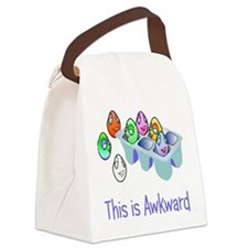 Awkward Eggs Canvas Lunch Bag