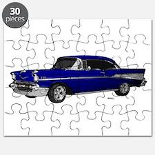 1957 Chevy Dark Blue Puzzle