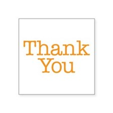 A simple thank you will do Sticker