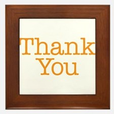 A simple thank you will do Framed Tile