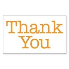 A simple thank you will do Decal