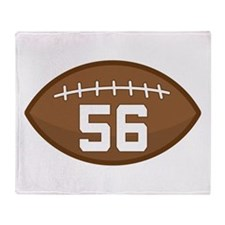 Football Player Number 56 Throw Blanket