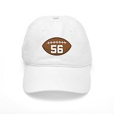 Football Player Number 56 Baseball Cap