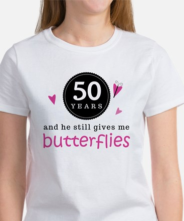 50th Anniversary Butterflies Women's T-Shirt