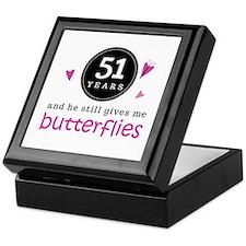 51st Anniversary Butterflies Keepsake Box