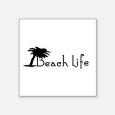 "Beach Life Square Sticker 3"" x 3"""