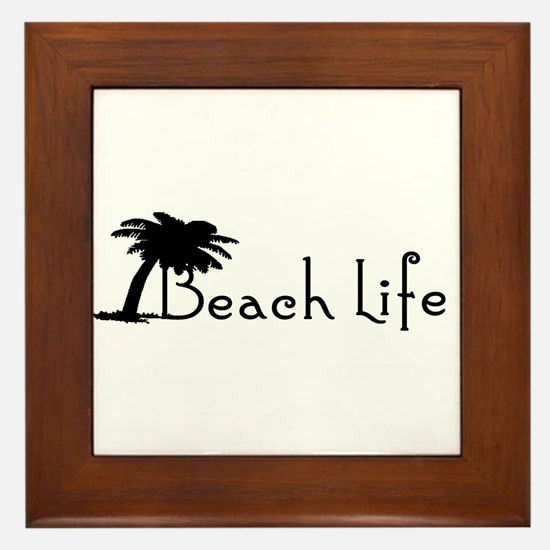 Beach Life Framed Tile