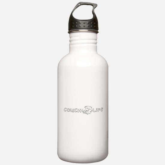 Couch Life (Black) Water Bottle
