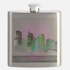 NYC SKYLINE Flask
