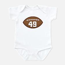 Football Player Number 49 Infant Bodysuit
