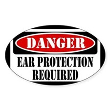 Ear Protection Required Decal