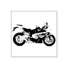 "sports bike Square Sticker 3"" x 3"""