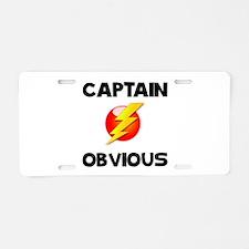 Captain Obvious Aluminum License Plate