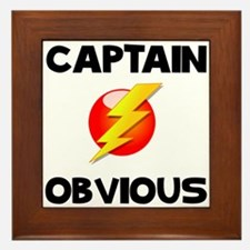 Captain Obvious Framed Tile