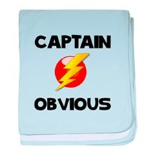 Captain Obvious baby blanket