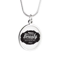 Sleeping Beauty Since 1697 Silver Round Necklace