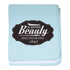 Sleeping Beauty Since 1697 baby blanket