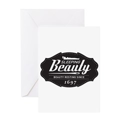 Sleeping Beauty Since 1697 Greeting Card