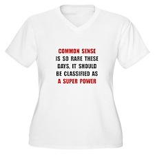 Common Sense Plus Size T-Shirt