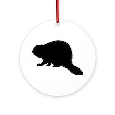Beaver Ornament (Round)