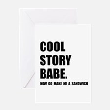 Cool Story Sandwich Greeting Card