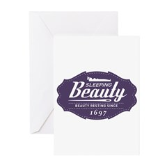 Sleeping Beauty Since 1697 Greeting Cards (Pk of 1