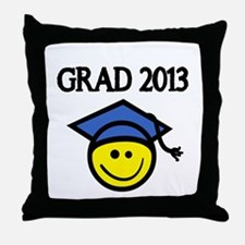 GRAD 2013 WITH SMILEY FACE Throw Pillow