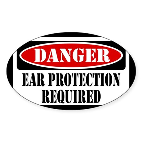Ear Protection Required Sticker