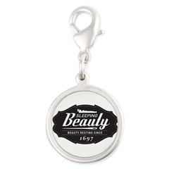 Sleeping Beauty Since 1697 Silver Round Charm
