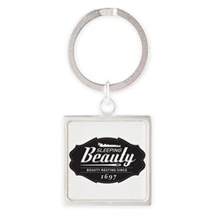 Sleeping Beauty Since 1697 Square Keychain