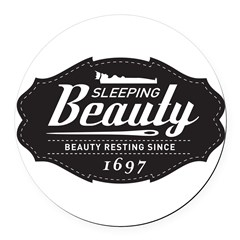 Sleeping Beauty Since 1697 Round Car Magnet