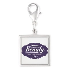 Sleeping Beauty Since 1697 Silver Square Charm