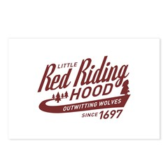 Little Red Riding Hood Since 1697 Postcards (Packa