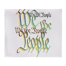 We The People-Trans Throw Blanket