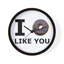 Donut Like You Wall Clock