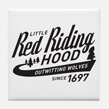 Little Red Riding Hood Since 1697 Tile Coaster