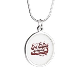 Little Red Riding Hood Since 1697 Silver Round Nec