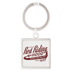 Little Red Riding Hood Since 1697 Square Keychain